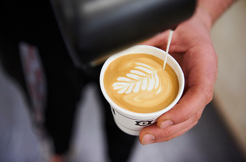 Latte art at The London Coffee Festival