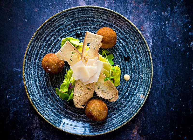 Chicken Caesar croquettes, The Refectory